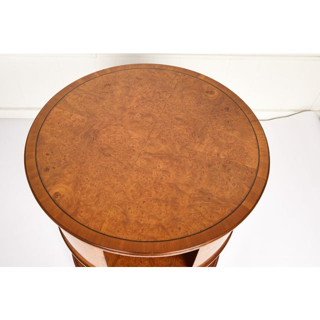 Revolving Circular Library Bookcase of Bird's-Eye Maple For Sale - Image 9 of 12