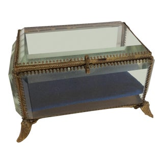 Antique French Crystal Display Box
