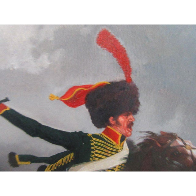French Hussar Painting - Image 4 of 5