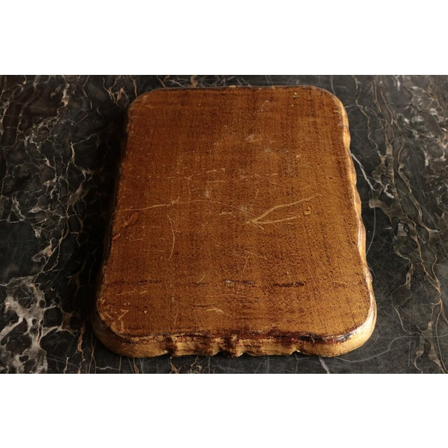 Golden Florentine Wood Tray - Image 7 of 7