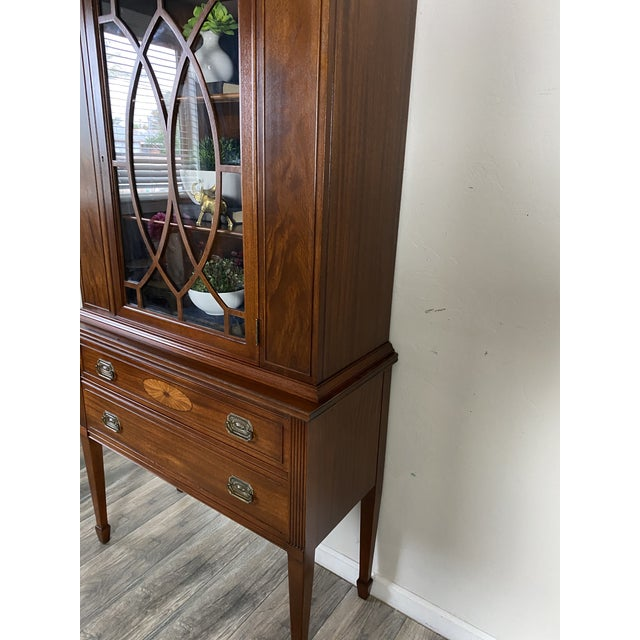 1950s Vintage Federal Style Cabinet For Sale - Image 4 of 12