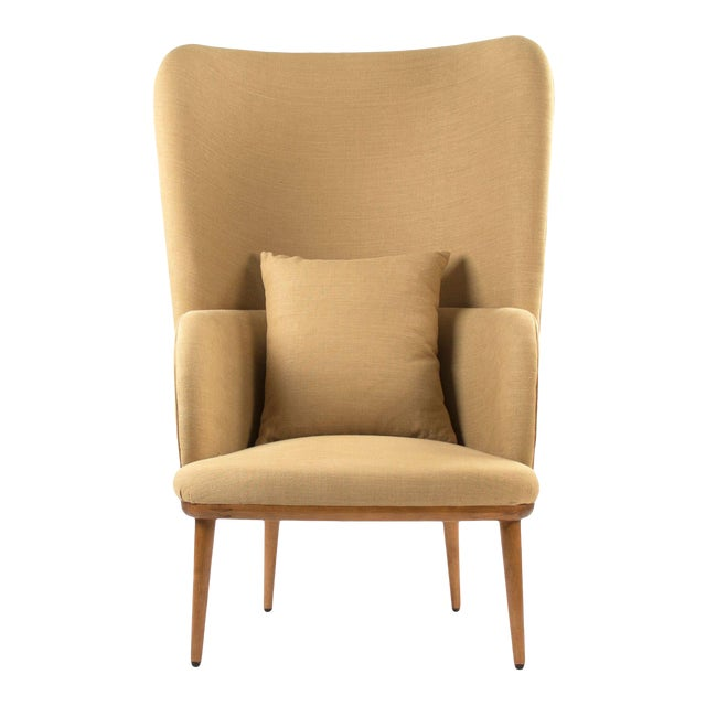 Giselle Arm Chair in Khaki For Sale