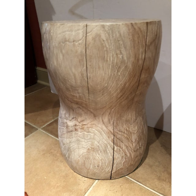 Contemporary 1980s Vintage Limed Oak Stools- Set of 3 For Sale - Image 3 of 8