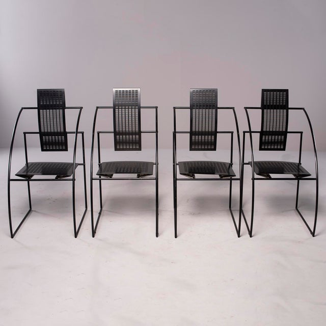 Contemporary Alias Italian Botta Quinta Op Art Dining Chairs - Set of 8 For Sale - Image 3 of 13