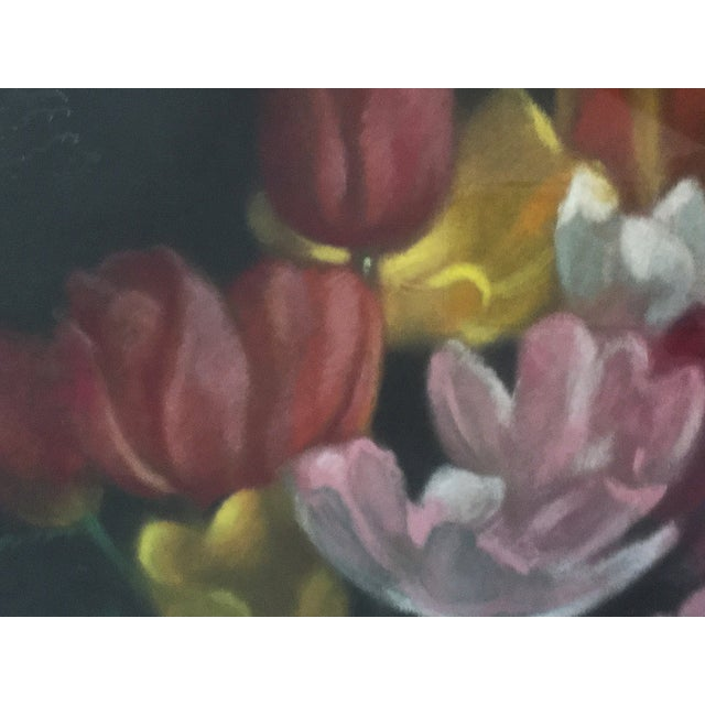 Vintage Pastel Tulip Still Life For Sale In New York - Image 6 of 9
