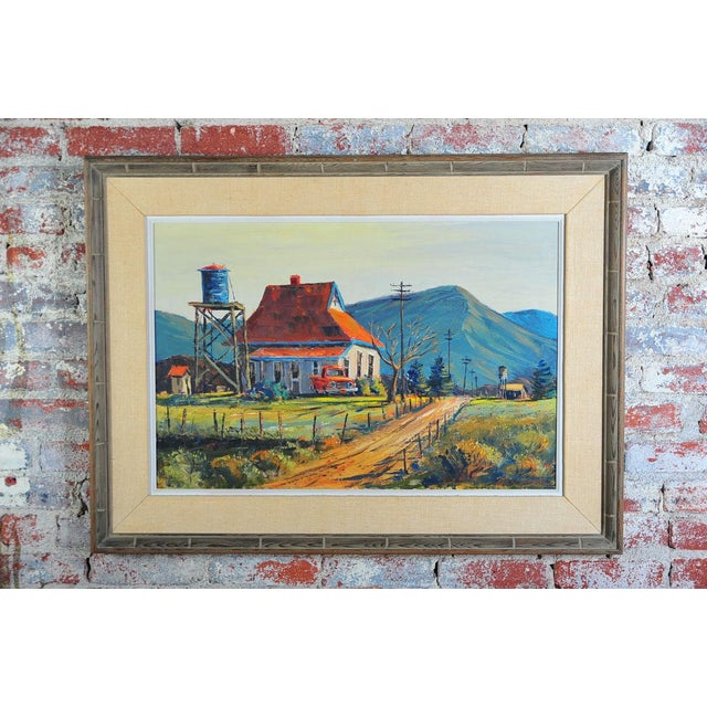Red Roof Farm House -Oil Painting by Ben Abril - Image 2 of 11