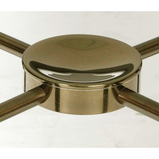 Postmodern Brass And Glass End Table - Image 6 of 6