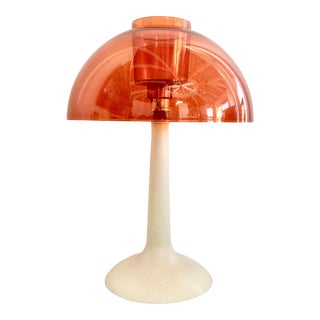 1970s Softlight Gilbert Orange Dome Lamp For Sale