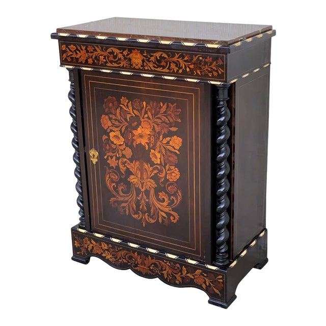 Louis XVI Marquetry and Inlays Cabinet in the Manner of Daniel Deloose For Sale