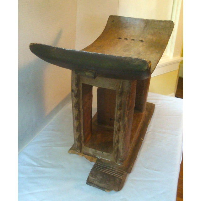 Antique African Carved Ashanti Asante Stool For Sale In Richmond - Image 6 of 11