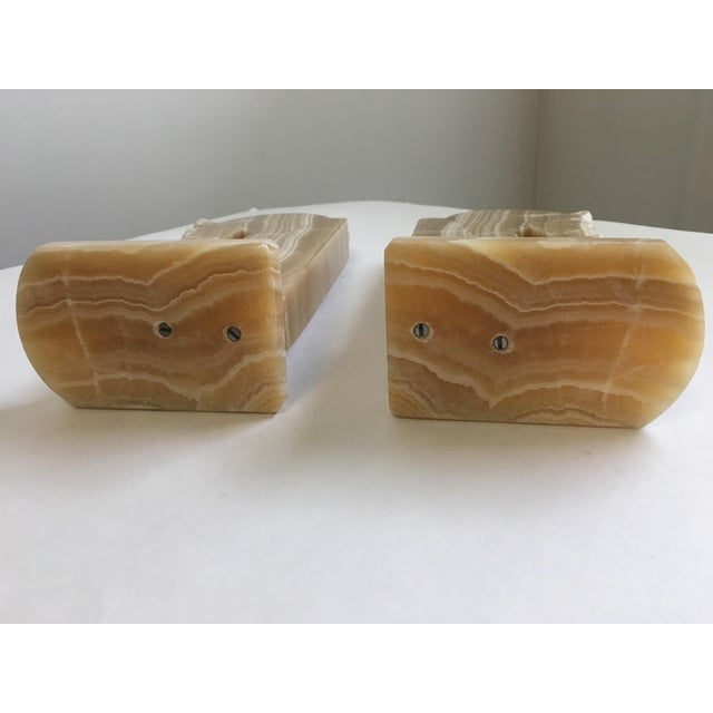 Brown Horse Head Bookends Carved Onyx Stone - a Pair For Sale - Image 8 of 10