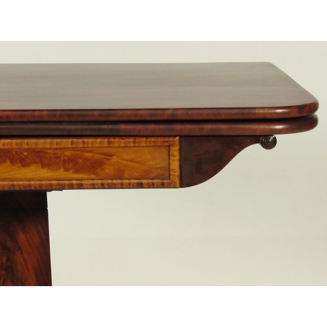 Birch 19th Century American Empire Card Table For Sale - Image 7 of 11