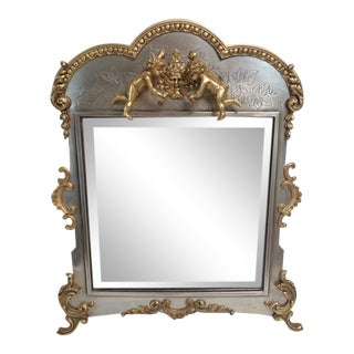 1880 Antique American Silvered and Gilt Mirror For Sale
