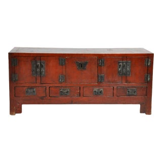 Late Qing Dynasty Tianjin Elm Wood Chest For Sale