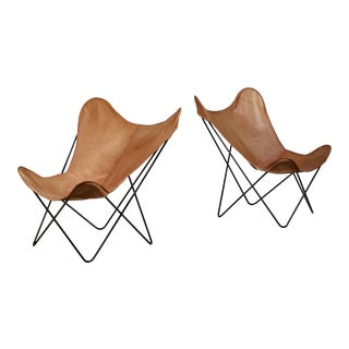 Pair of Knoll Butterfly Chairs For Sale