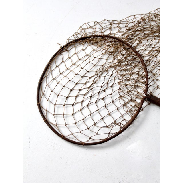 Antique Pole Fishing Net For Sale - Image 4 of 9