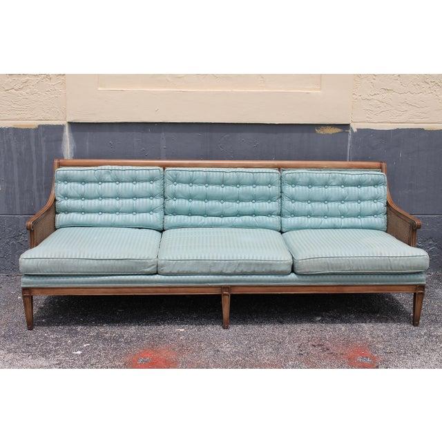 "Mid Century Neoclassical ""Hamptons"" Sofa - Image 3 of 11"