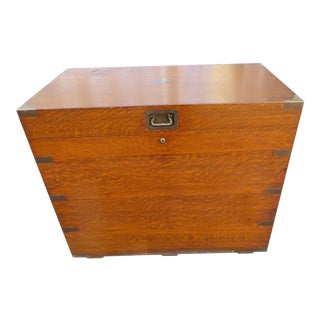 1901 Campaign Style Humidor Trunk For Sale
