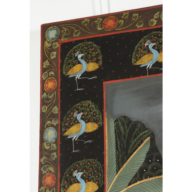 Large Pichhavai Painting of Krishna With Female Gopis Dancing For Sale - Image 9 of 10