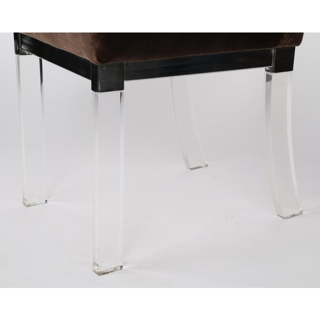 Chrome 1970S vintage CHROME AND LUCITE DINING CHAIRS- set of 4 For Sale - Image 7 of 7