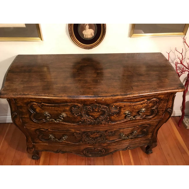 18th Century Style Carved French Provincial Dresser For Sale - Image 12 of 13