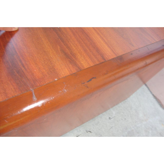 1970s Mid Century Wooden Coffee Table For Sale In Los Angeles - Image 6 of 13