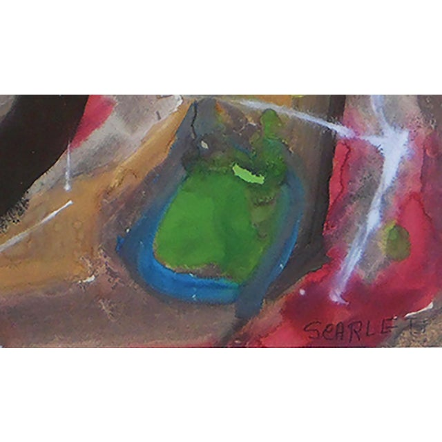 Abstract Rolph Scarlett Abstract Composition Painting For Sale - Image 3 of 4