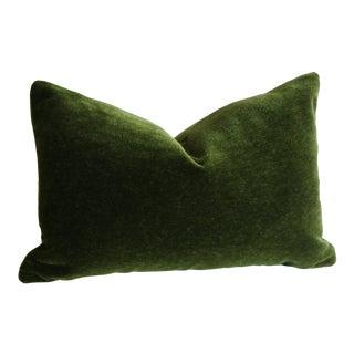 Emerald Green Angora Mohair Pillow Cover 12x18 For Sale