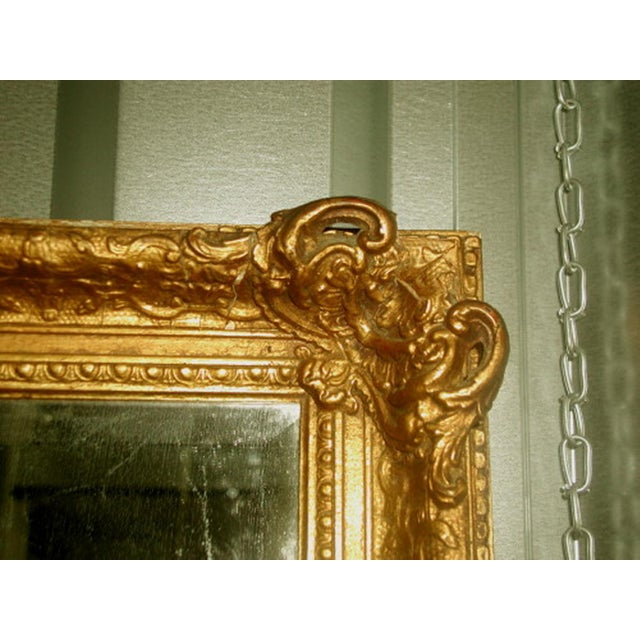 French 19th C. Carved Gilt Frame & Beveled Mirror - Image 9 of 10