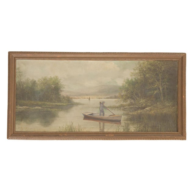 Antique Seascape Portait Painting For Sale - Image 12 of 12