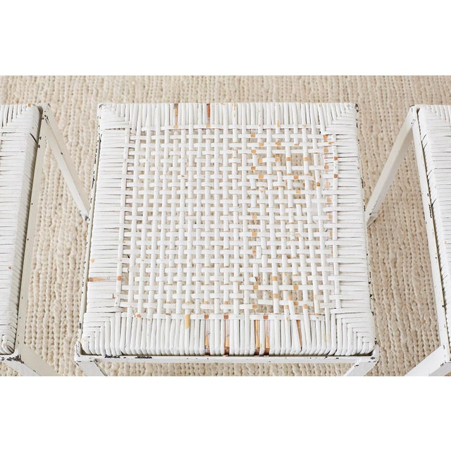 Danny Ho Fong California Modern Woven Cane Dining Table Set For Sale - Image 12 of 13