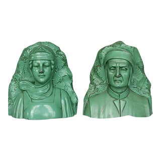 Vintage Dante & Beatrice Jennings Brothers Bookends - a Pair For Sale