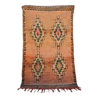Vintage Berber Moroccan Rug - 6′ × 3′8″ For Sale