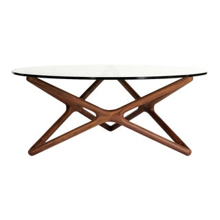 Adrian Pearsall-Style Geometric Walnut Coffee Table For Sale