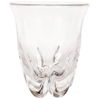 Sculptural Scandinavian Mid-Century Modern Handblown Translucent Glass Vase For Sale