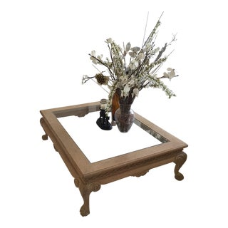 Marge Carson Claw Foot Coffee Table