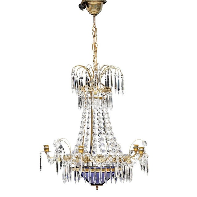 Antique 1900s Gustavian Swedish Crystal Chandelier For Sale In Greensboro - Image 6 of 6