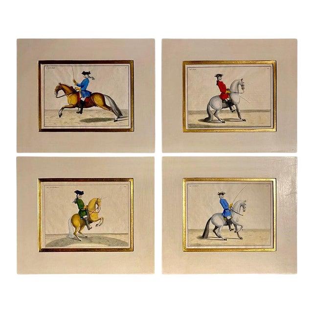 Four Engravings of Horse Riders L' Aimable, Le Joli, Le Sanspareil, Le Poupon For Sale