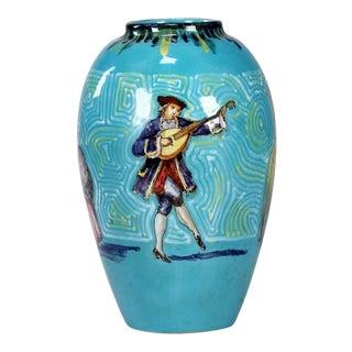 Italian 20th Century Glazed Ceramic Vase For Sale