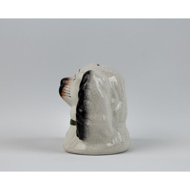 Staffordshire 19th Century English Traditional Staffordshire Ceramic Dog Head Money Bank For Sale - Image 4 of 11