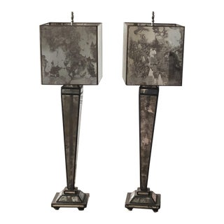 Mercury Glass Lamps - a Pair For Sale