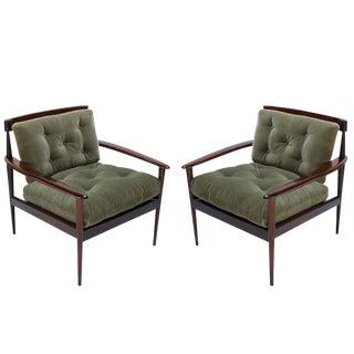 Rino Levi Brazilian Jacaranda Armchairs - a Pair For Sale