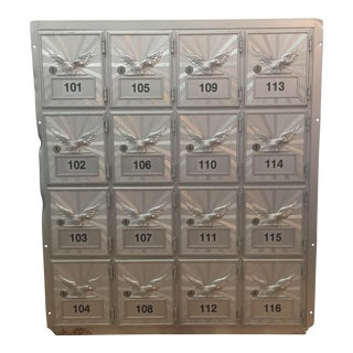 Vintage p.o. Box Mailbox Cabinet For Sale