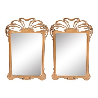 Pair of Art Nouveau Style Mirrors