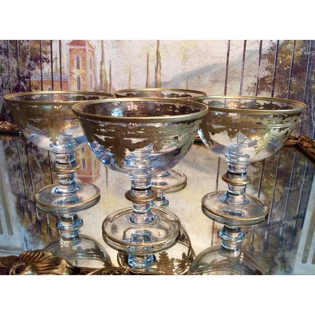 Arte Italica Vetro Gold Dessert Bowls - Set of 4 - Image 9 of 10