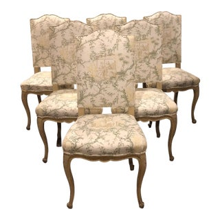 Late 20th Century Antique French Dining Chairs- Set of 6 For Sale