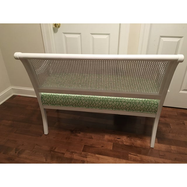 Vintage Cane Back Settee For Sale - Image 4 of 7