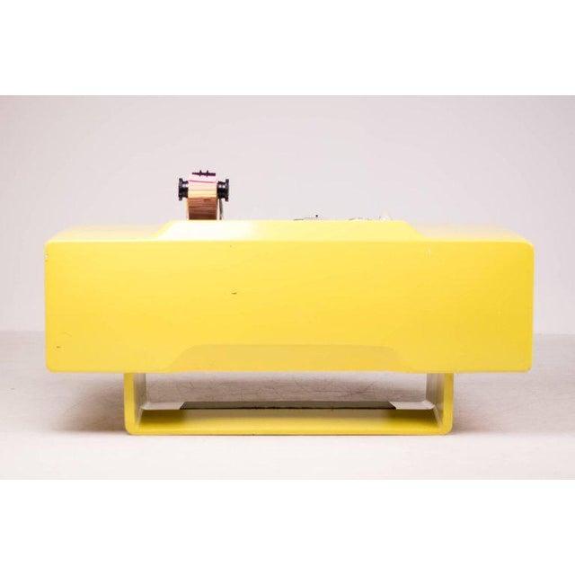 Aluminum Ernest Igl Design Fiberglass Directors Desk by Wilhelm Werndl For Sale - Image 7 of 10