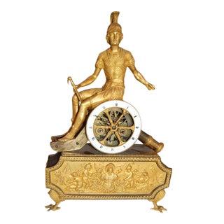 19th C. Empire Bronze Dore Clock