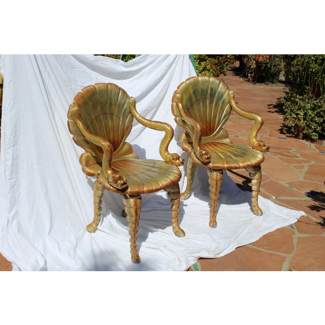 Late 20th Century Pair of Venetian Grotto Chairs 20c. For Sale - Image 5 of 6